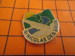 411d Pin's Pins / Belle Qualité Et Rare / THEME VILLES : ST NICOLAS DES EAUX RIVIERE PONT CAMPAGNE - Villes