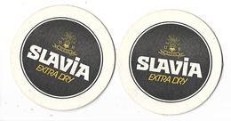 2 SOUS-BOCKS---SLAVIA Extra Dry---( Biere Bier Beer )--voir 2 Scans - Sous-bocks