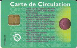 CARTE A PUCE CHIP CARD TRANSPORT CIRCULATION RATP PARIS - Autres