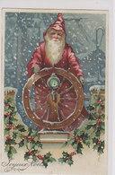 Santa Claus - Embossed Card  1909         (200210) - Santa Claus