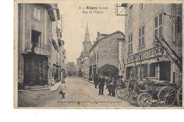 42 ENVIRONS DE ROANNE  REGNY RUE DE L EGLISE ( Animation Hôtel Du Commerce Et Toilerie H. Blein ) - France