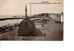 CP CONCARNEAU Le Port De La Croix Et La Chapelle Vue Prise De L'atlantic Hôtel - Concarneau