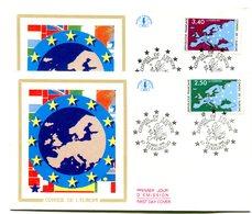 FDC Conseil De L'Europe Yvert Service 106 & 107 Cote 4 - Y25 - 1980-1989