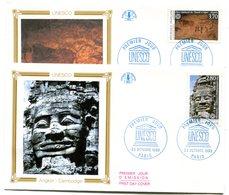 FDC UNESCO Yvert Service 110 & 111 Cote 5,20 - Y27 - 1980-1989