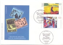 GERMANY MALEREI 20 JAHRHUNDERTS  FDC 1992  COVER   (FEB20590) - Arte