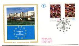 FDC Conseil De L'Europe Yvert Service 112 & 113 Cote 6,50 - Y28 - 1980-1989