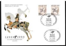 Europäische Postverbindungen 1490-1990: FDC From Berlin 1990 (G109-20) - Correo Postal