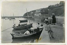 1962. PHOTO ANCIENNE TIRAGE PAPIER DEBUT 20è SIECLE. MORGAT. RETOUR DE PÊCHE - Luoghi