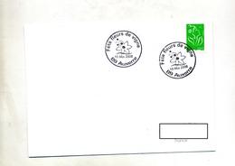 Lettre Cachet  Auxerre Fleur De Vigne - Storia Postale