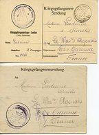 1963. LOT LETTRE ET CARTE PRISONNIER DE GUERRE LANDAU KRIEGSGEFANGENENSENDUNG 1918 CACHETS ET CENSURE - Documenti