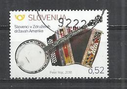 SLOVENIA 2018 - SLOVENES IN THE WORLD - POSTALLY USED OBLITERE GESTEMPELT USADO - Slovénie