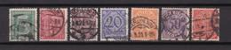 Deutsches Reich - Dienstmarken - 1920 - Michel Nr. 16/22 - Gest. - Gebraucht