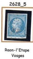 France : Petit Chiffre N° 2628 : Raon L'Etape  ( Vosges  ) Indice 5 - Marcophilie (Timbres Détachés)