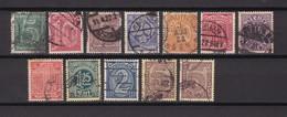 Deutsches Reich - Dienstmarken - 1920 - Michel Nr. 23/33 - Gest. - 44 Euro - Germany