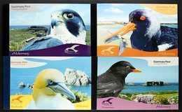 BIRDS ALDERNEY 2006-2009 Resident Seabirds All Four Complete Prestige Booklets, SG ASB16/19, Superb Never Hinged Mint. ( - Timbres