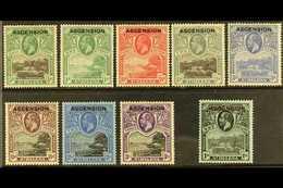 1922 KGV St Helena Opt'd Set, SG 1/9, Fine Mint (9 Stamps) For More Images, Please Visit Http://www.sandafayre.com/itemd - Ascension