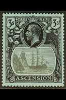 1924-33 3s Grey Black & Black/blue, SG 20, Fine Mint For More Images, Please Visit Http://www.sandafayre.com/itemdetails - Ascension