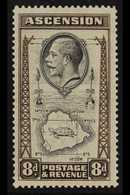 """1934 8d Black And Sepia, Variety """"teardrop Flaw"""", SG 27a, Very Fine Mint. For More Images, Please Visit Http://www.sanda - Ascension"""