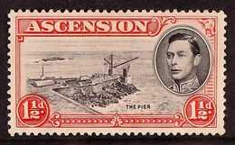 1938 1½d Black And Vermilion, Perf. 13½, With Davit Flaw, SG 40a, Fine Mint. For More Images, Please Visit Http://www.sa - Ascension