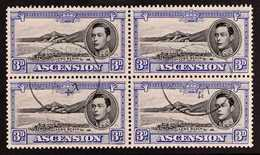 1938 3d Black And Ultramarine, SG 42, Fine Cds Used Block Of Four. For More Images, Please Visit Http://www.sandafayre.c - Ascension