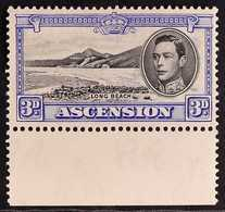 1938 3d Black And Ultramarine, SG 42, Never Hinged Mint With Lower Sheet Margin. For More Images, Please Visit Http://ww - Ascension