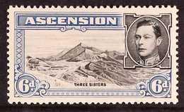1938 6d Black And Blue Perf. 13½, BOULDER FLAW, SG 43a, Fine Mint. For More Images, Please Visit Http://www.sandafayre.c - Ascension