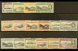 1938-53 Pictorial Definitive Set, SG 34b/47b, Fine Mint (16 Stamps) For More Images, Please Visit Http://www.sandafayre. - Ascension