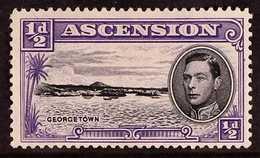 "1944 ½d Black And Bluish Violet, Long Centre Bar To ""E"", SG38ba, Fine Mint. For More Images, Please Visit Http://www.s - Ascension"