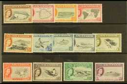 1956 Complete Definitive Set, SG 57/69, Very Fine Mint (13 Stamps) For More Images, Please Visit Http://www.sandafayre.c - Ascension