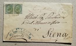 Busta Di Lettera Leva Militare Marciano-Siena - Marzo 1875 - 1861-78 Vittorio Emanuele II
