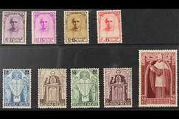 1932 Cardinal Mercer Memorial Fund Set, Cob 342/50, SG 609/17, 10f Top Value Is Very Lightly Hinged, A Very Fine Mint Se - Belgium
