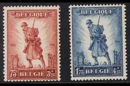 1932 Infantry Memorial Set, Cob 351/52, SG 618/19, Never Hinged Mint (2 Stamps) For More Images, Please Visit Http://www - Belgium