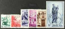 1954 Beguinage De Bruges Set Complete, COB 946/51, Superb Cds Used. (6 Stamps) For More Images, Please Visit Http://www. - Belgium
