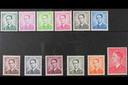 1958 King Baudouin Definitive Set, Cob 1066/75, Never Hinged Mint (12 Stamps) For More Images, Please Visit Http://www.s - Belgium