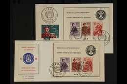1960 1960 Refugees Mini-sheets (Michel Block 26), Two Different Illustrated Unaddressed First Day Covers, Fresh. (2 FDC' - Belgium