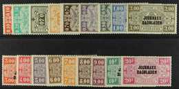 NEWSPAPER STAMPS 1929 Overprint Set Complete, COB JO19/36, Never Hinged Mint. (18 Stamps) For More Images, Please Visit  - Belgium