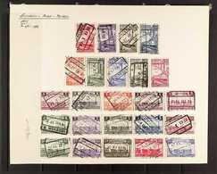 RAILWAY POST STAMPS 1935 Set Complete, COB TR178/201, Very Fine Used. (24 Stamps) For More Images, Please Visit Http://w - Belgium