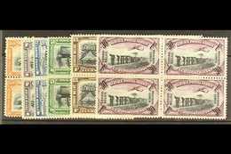 BELGIAN CONGO 1921-30 Air Set, COB PA1/6, Fine Never Hinged Mint Blocks Of Four. (6) For More Images, Please Visit Http: - Belgium