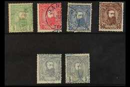 CONGO 1887-94 Set To Both 50c And 5f Grey, COB 6/10 And 12, Fine Cds Used. (6 Stamps) For More Images, Please Visit Http - Belgium