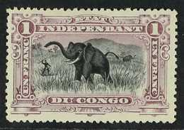 CONGO 1894 1fr Deep Lilac, Elephants, COB 26B, Very Fine And Fresh Mint. For More Images, Please Visit Http://www.sandaf - Belgium