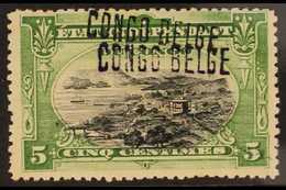 CONGO 1909 Handstamped 5c Black And Green, COB 30, Variety Overprint Double, Fine Mint, Unlisted. For More Images, Pleas - Belgium