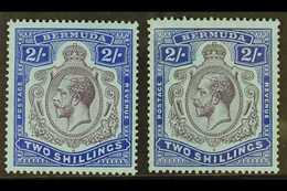 1924-32 2s, The Two Shades, SG 88 & 88g, Fine Mint. (2) For More Images, Please Visit Http://www.sandafayre.com/itemdeta - Bermuda