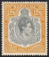 1938 12s 6d Grey And Brownish Orange SG 120a, Fine Mint, Usual Streaky Gum.  For More Images, Please Visit Http://www.sa - Bermuda