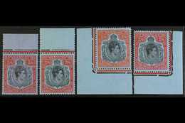 1938-52 2s6d KEY PLATE GROUP An All Different Quad Of 2s6d Inc SG 117, 117b, 117c & 117d, Never Hinged Mint Marginal Exa - Bermuda