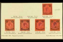 """1938-53 £1 USED KEY PLATE SELECTION. An All Different, Specialized Shade & Perf Collection Of Fine Cds Used """"key Plate""""  - Bermuda"""