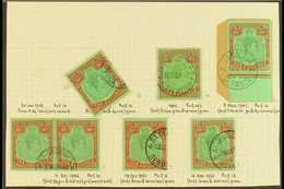 """1938-53 10 SHILLING USED KEY PLATE SELECTION. An All Different, Specialized Shade & Perf Collection Of Fine Cds Used """"ke - Bermuda"""