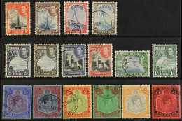 "1938-53 Pictorial & Portrait Definitive ""Basic"" Set, SG 110/21d, Fine Used (16 Stamps) For More Images, Please Visit Htt - Bermuda"