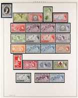 1953-1969 COMPLETE NHM COLLECTION Presented In Mounts On Album Pages, A Complete Run From The 1953 Coronation To The 196 - Bermuda