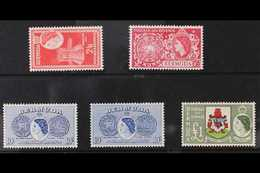 1953-62 Definitive Top Values, 2s6d To £1 Including Both 10s Shades, SG 147/50. Never Hinged Mint. (5 Stamps) For More I - Bermuda