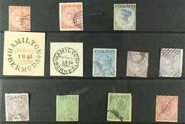 FORGERIES A 'used' Collection Of Forged 19th Century Stamps With Values To 1s. (12 Forgeries) For More Images, Please Vi - Bermuda